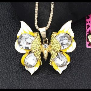 BETSEY JOHNSON~ Butterfly Necklace
